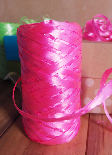 Synthetic Raffia Pink