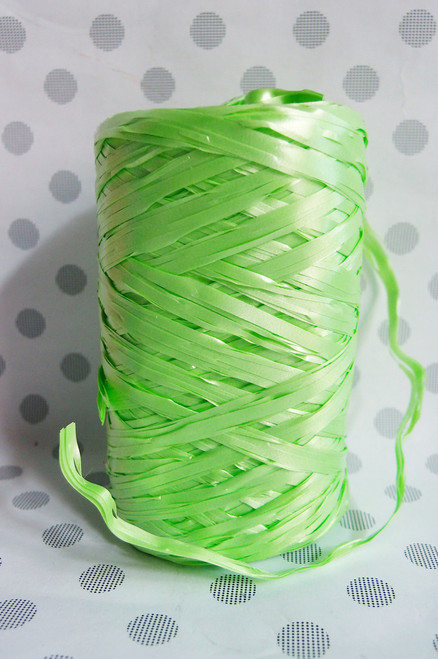 Synthetic Raffia Green