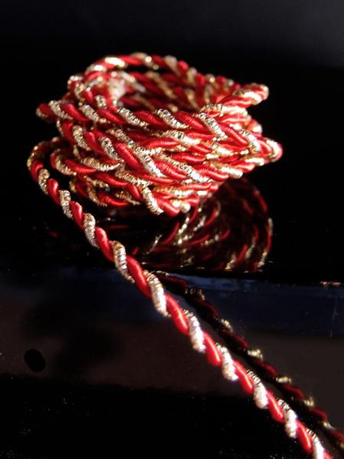 Red & Gold Rope 2.5mm x 20Y