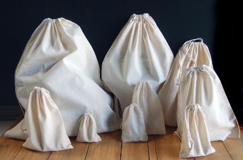 Wholesale Drawstring Bags, Plain Cotton Drawstring Bags, Natural Cotton Drawstring Bags | Packaging Decor