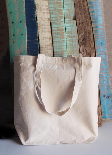 "Cotton Canvas Tote Bag  18"" x 15"" x 5 3/4"""