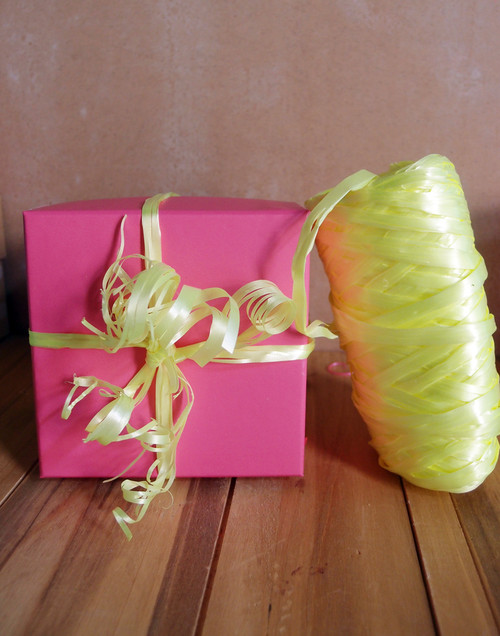 Synthetic Raffia Yellow