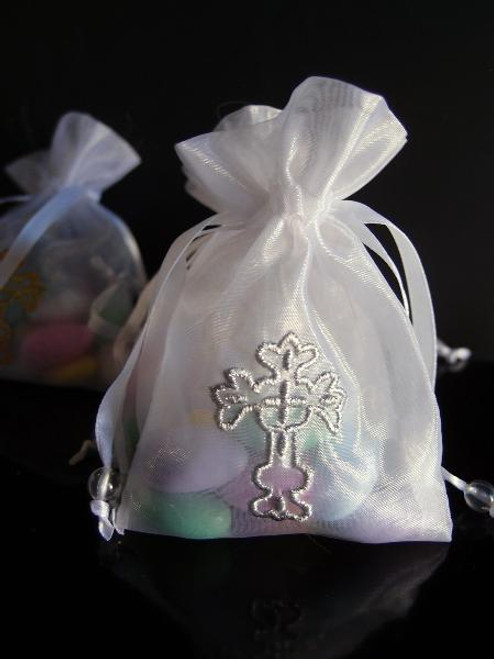 Ivory Bag with Silver Cross