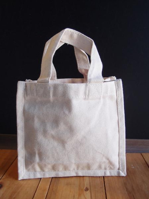 Canvas Tote Bags 7 x 6 x 2.75 inches, Wholesale Canvas Bags, Gift Packaging   Packaging Decor