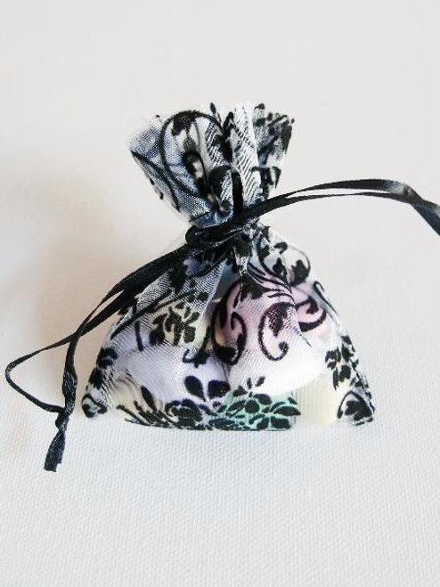 Damask on Organza Bags (4 sizes)