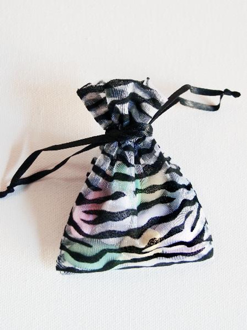 Zebra on Organza Bags (4 sizes)