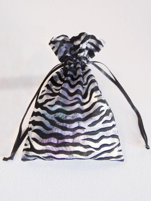 Zebra on Organza Bags (4 sizes)