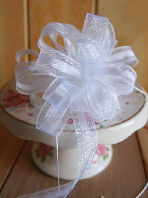 White Pull Bow Ribbon