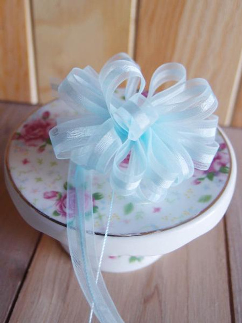 Light Blue Pull Bow Ribbon