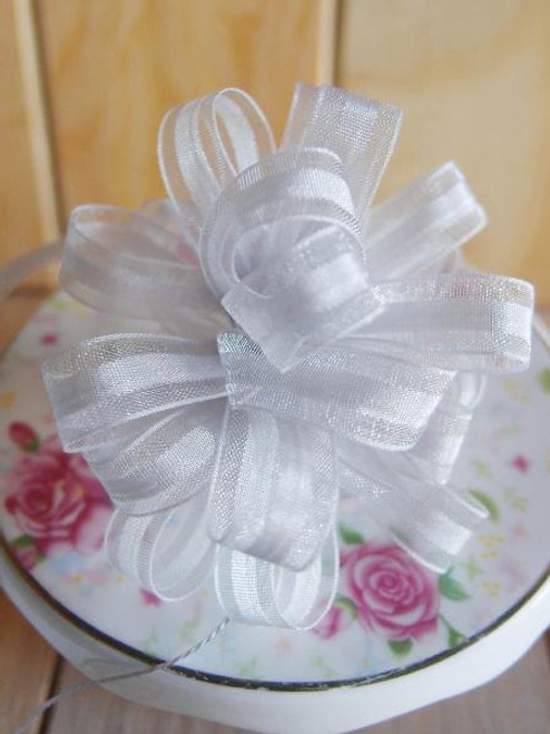 Silver Pull Bow Ribbon
