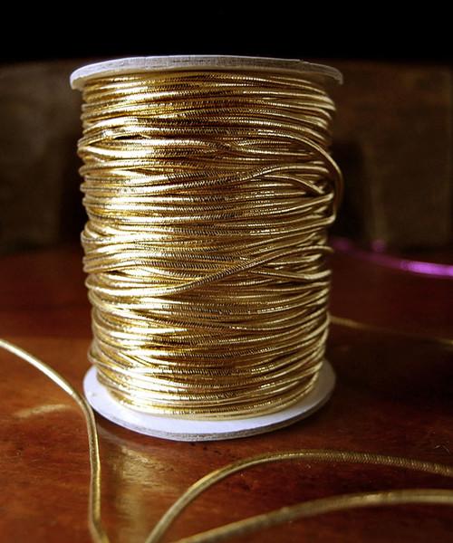 Gold Elastic Metallic Cord