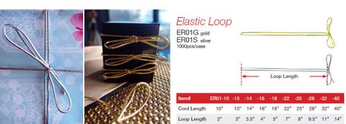 Silver Elastic Loop (10 sizes)