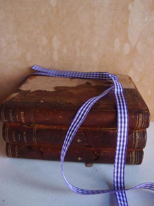 Purple & White Gingham Checkered Ribbon (2 sizes)