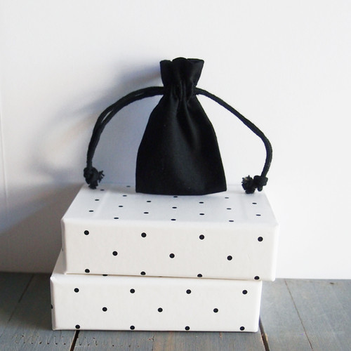 Black Cotton Drawstring Bags 2 x 3 inches, Wholesale Black Drawstring Bags | Packaging Decor