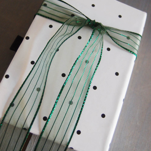 Green Sheer Shimmery Corsage Ribbon (2 sizes)