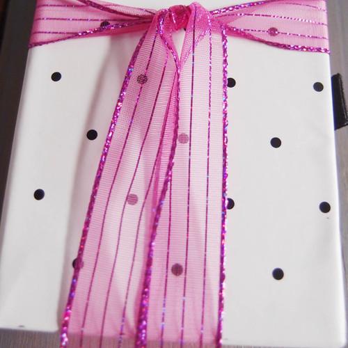 Shocking Pink Shimmery Corsage Ribbon (2 sizes)