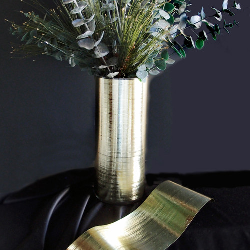 Gold Metallic Aspidistra Leaf Ribbon