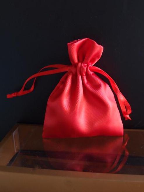 Red Satin Bag with Satin Ribbon String (2 sizes)