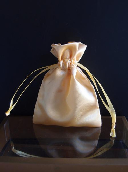 Gold Satin Bag with Satin Ribbon String (2 sizes)