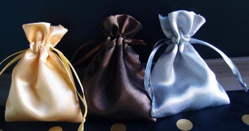 Wholesale Satin Drawstring Bags, Wholesale Wedding Favor Bags | Packaging Decor