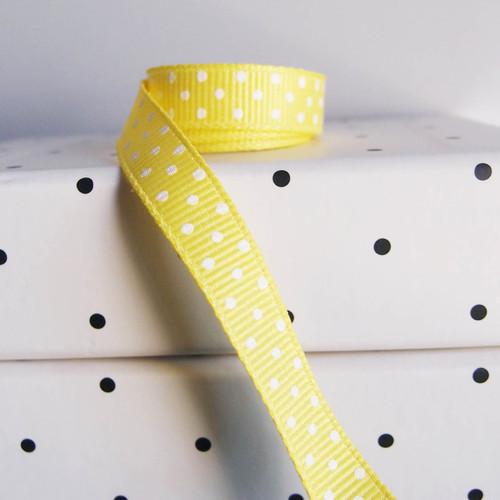 Dark Yellow Grosgrain with Swiss Dots