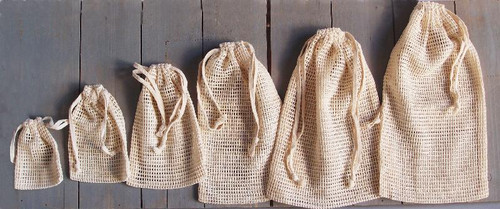 Natural Cotton Net Bags (8 sizes)