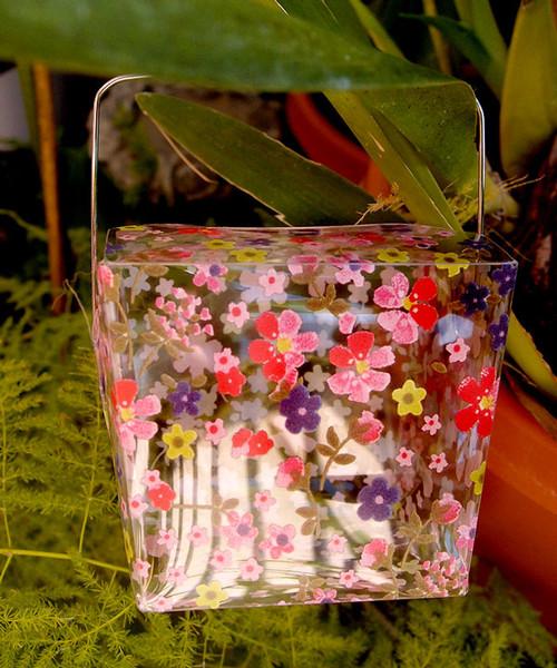 """1 5/8""""x1 5/8""""x2"""" Takeout Box-Pink Floral"""