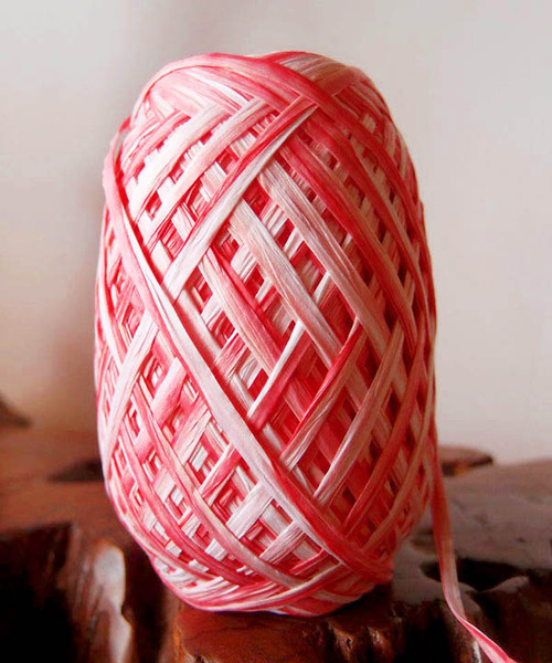 Red Paper Raffia Roll