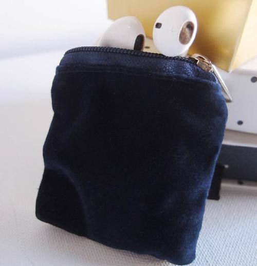 Blue Velvet with Blue Zippered Bag (3 sizes)