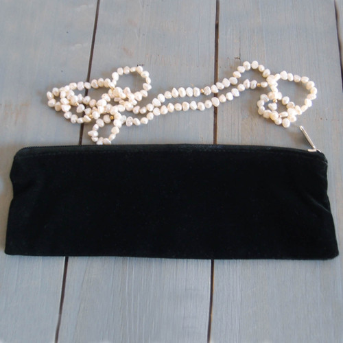 Black Long Velvet with Black Zippered Bag (2 sizes)