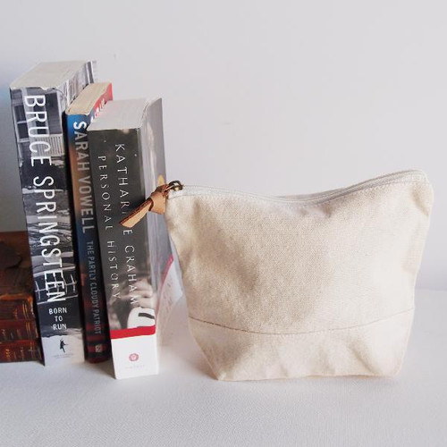 Wholesale Zippered Pouches, Cotton Zipper Pouch Supplier, Natural Cotton Zippered Pouch  | Packaging Decor