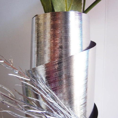 Silver Metallic Aspidistra Leaf Ribbon