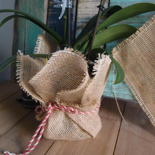 "12""x12"" Jute Sheet with Fringe Edge"