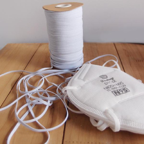 White Elastic Band 3mm