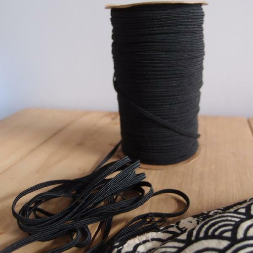 Black Elastic Band 6mm ER12-39, Wholesale Elastic Band | Packaging Decor