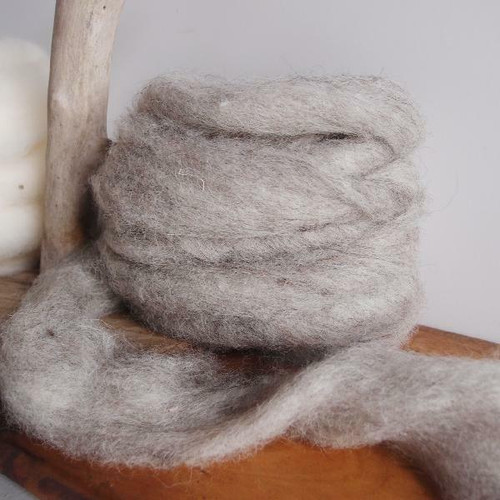 Gray Wool Roving Fiber, Wholesale Wool Roving Fiber | Packaging Decor