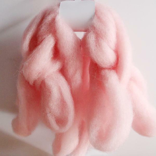 Wool Roving Fiber Pink, Wholesale Wool Roving Fiber | Packaging Decor
