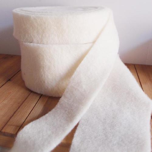 White Pure Wool Felt Ribbon (2 sizes)