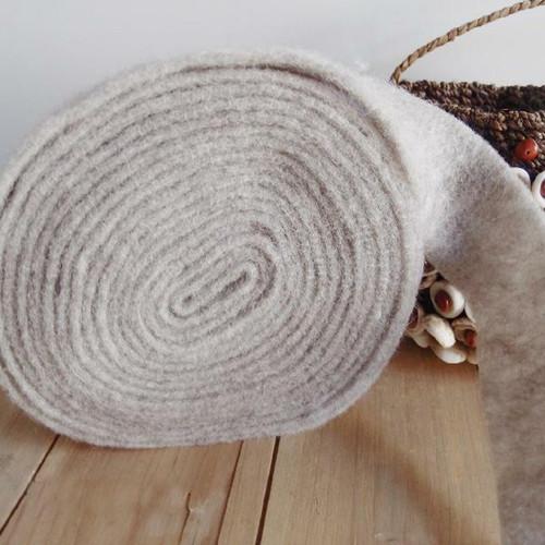 Gray Pure Wool Felt Ribbon, Wholesale Wool Ribbon | Packaging Decor