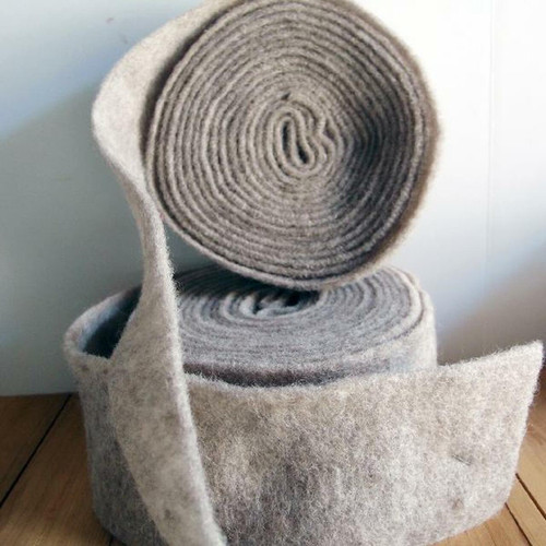 Gray Pure Wool Felt Ribbon | Packaging Decor
