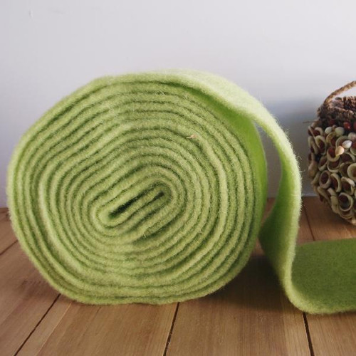 Light Green Pure Wool Felt Ribbon (2 sizes)