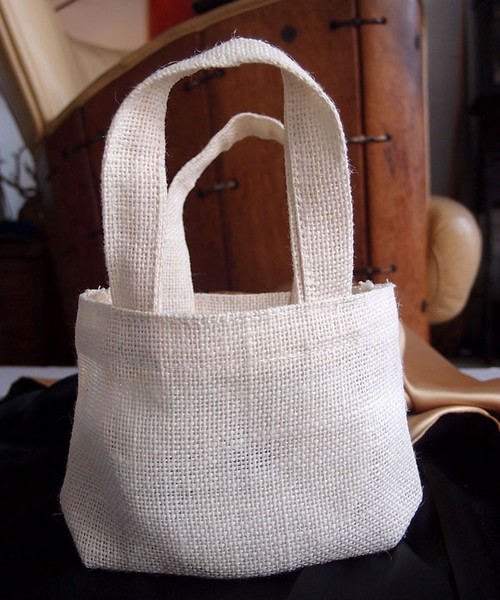 "White Gusset Jute Bags 5"" x 5"""