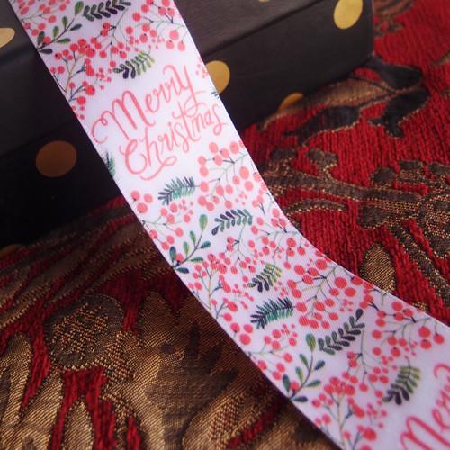 "1 1/2"" Christmas Berry Ribbon"