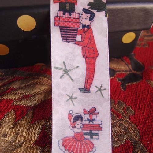 """1 1/2"""" Vintage Retro Christmas Ribbon"""