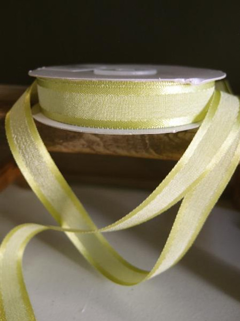 Pear Faux Linen Ribbon with Satin Edge (3 sizes)