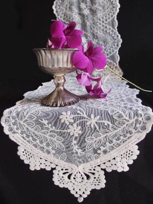 "12""x74"" Ivory Lace Table Runner"