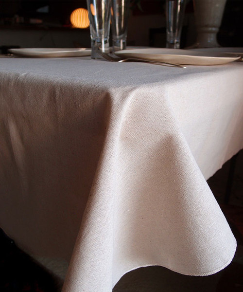 "54""x54"" Linen Table Cover with Selvaged Edge"