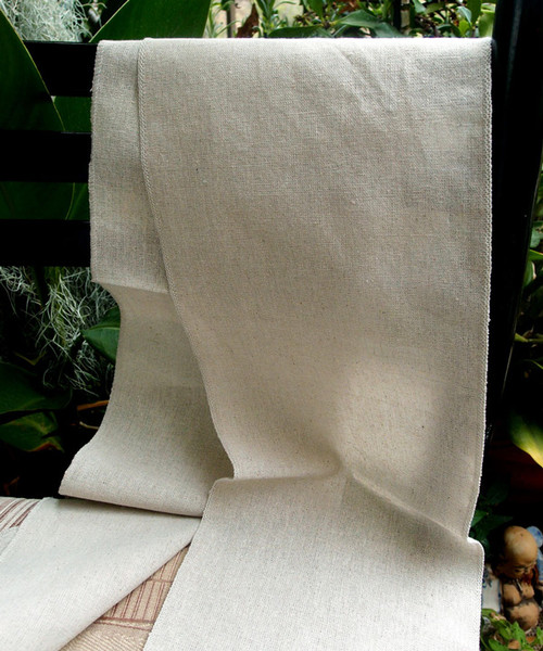 "8""x108"" Linen Table Runner with Selvaged Edge"