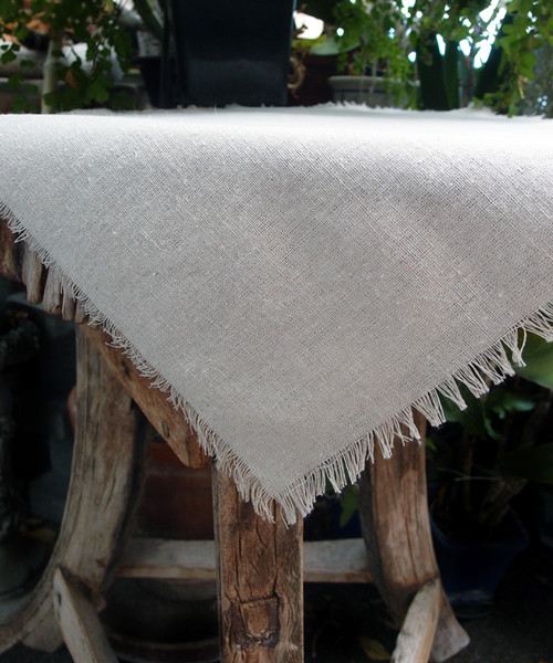 "20""x20"" Linen Sheet with Fringed Edge"