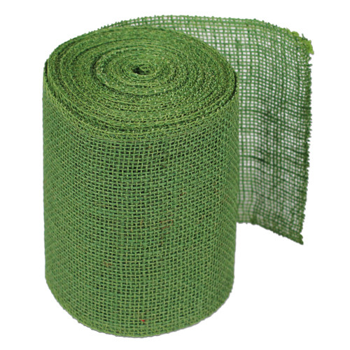 "6""x10Y Green Burlap Table Runner"